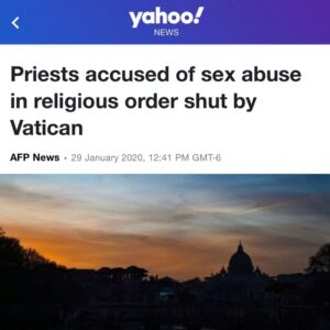 Priest Accused Of Sex Abuse In Religiouse Order Shut By Vatican