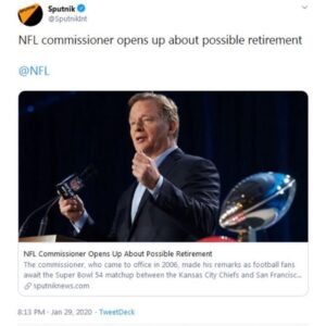 NFL Commissioner Opens Up About Possible Retirement