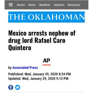 Mexico Arrest Nephew Of Drug Lord Rafael Caro Quintero