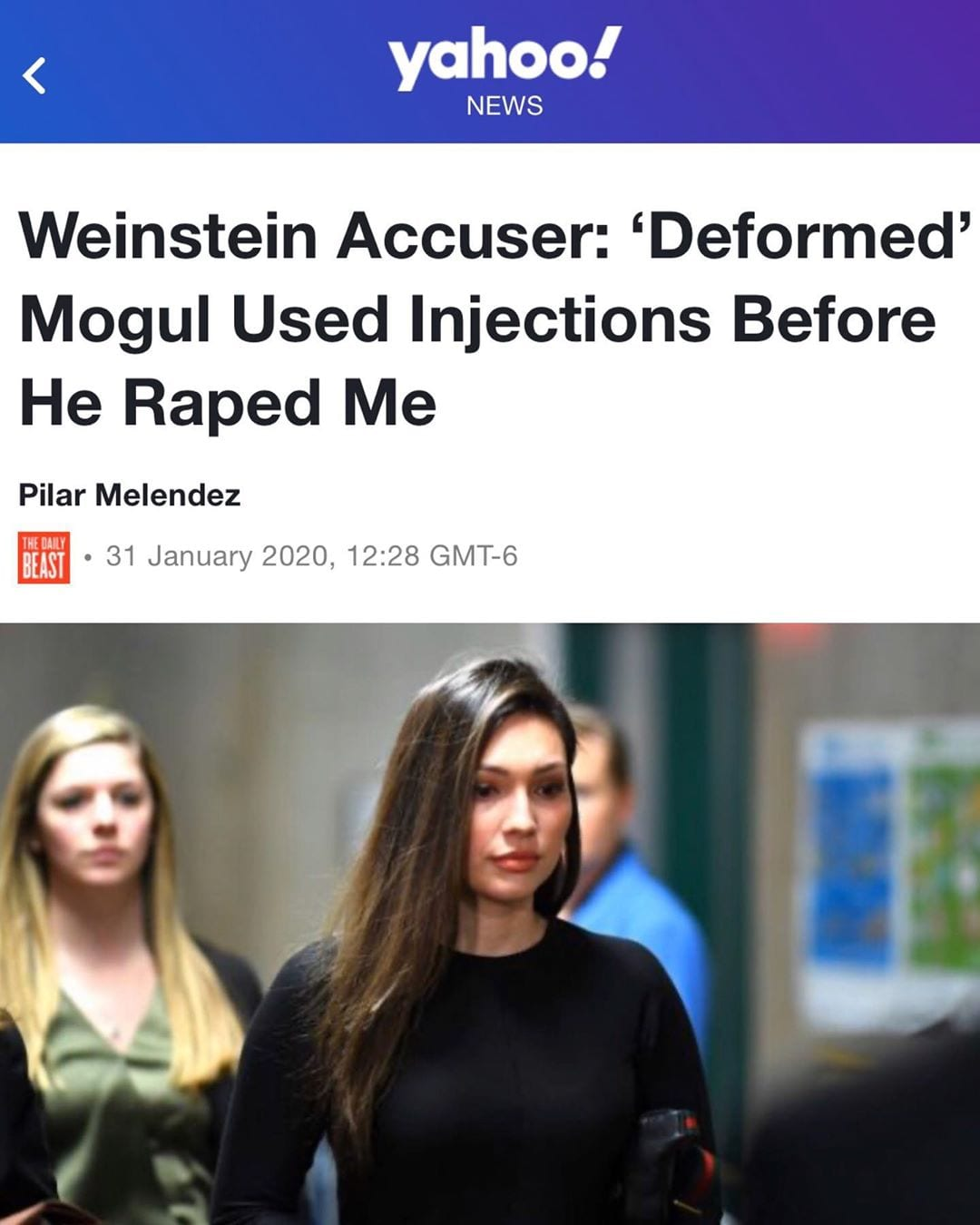 Weinstein Accuser: 'Deformed' Mogul Used Injections Before He Raped Me