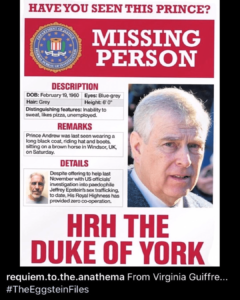 HAVE YOU SEEN THIS PRINCE? MISSING PERSON REPORT