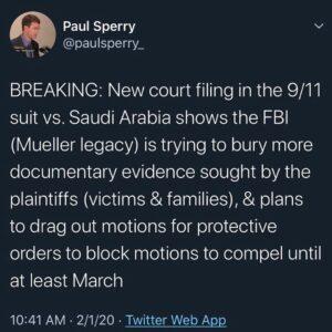 9/11 Vs. Saudi Arabia Shows The FBI (Mueller Legacy) Buring Documentary Evidince Sought By The Plaintiffs (Families & Victims)
