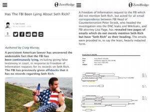 """FBI """"has been continuously lying"""" About Seth Rich"""