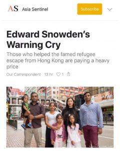 Edward Snowden's Warning Cry