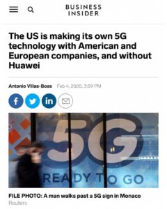 The US Is Making It's Own 5G Technology With American And Europe Companies, And Without Huawei