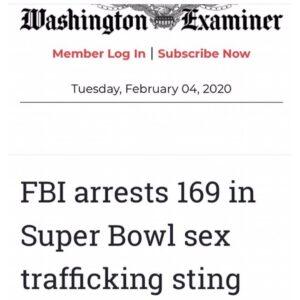 FBI arrests 169 in Super Bowl sex trafficking sting