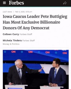 Iowa Caucus Leader Pete Buttigieg Has Most Exclusive Billionaire Donors Of Any Democrat