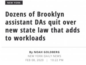 Dozens Of Brooklyn Assistant DA's Quit Amid New State Law Increasing Workloads