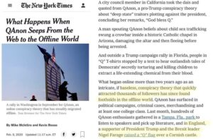 What Happens When QAnon Seeps From the Web to the Offline World