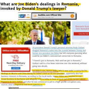 What Are Joe Biden's Dealings In Romania, Invoked By Donald Trump's Lawyer