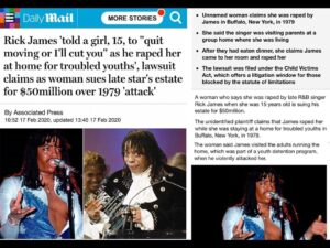 """Rick James 'Told A Girl, 15, To """"Quit Moving Or I'll Cut You"""" As He Raped Her At Home For Troubled Youth' Lawsuit Claims As Women Sues Late Star's Estate For $50 Million Over 1979 'Attack'"""
