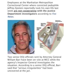Employees at the Manhattan Metropolitan Correctional Center where convicted pedo…