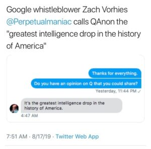 """YUGE. Q is the """"greatest intelligence drop in the history of America."""" -Google …"""