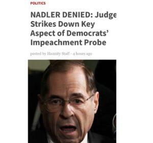 NADLER DENIED: Judge Strikes Down Key Aspect of Democrats' Impeachment Probe   v…