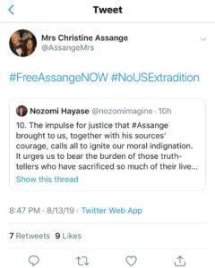 This is Julian Assange's mother. NO HE IS NOT DEAD….