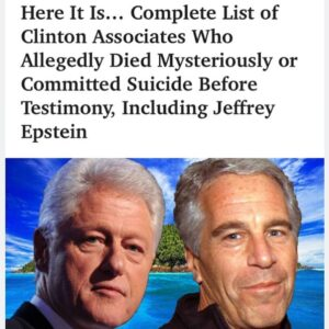This is just those who were killed that were set to testify against the Clintons…
