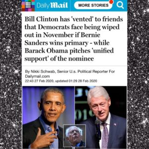 "Bill Clinton Has ""Vented"" To Friends That Democrat Face Being Wiped Out In November If Bernie Sanders Wins Primary – While Barack Obama Pitches ""Unified Support"" Of The Nominee"