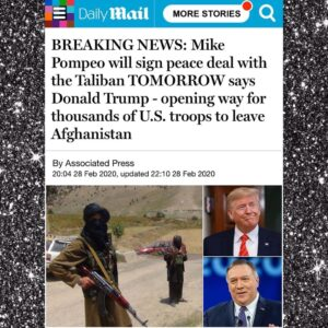 Mike Pompeo will sign peace deal with the Taliban TOMORROW says Donald Trump – opening way for thousands of U.S. troops to leave Afghanistan