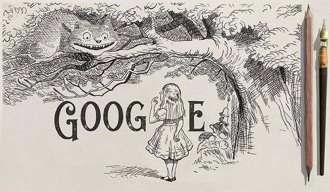 Google celebrates Sir John Tenniel's 200th birthday with 'Alice in Wonderland' inspired doodle