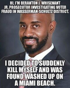 This prosecutor was investigating voter fraud in Broward County…he washed up o…