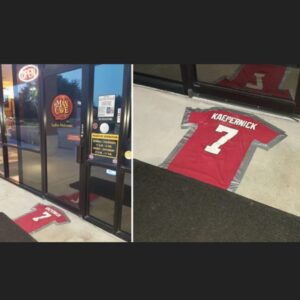 The #KaepernickChallenge #Doormat #AmericaFirst #GreatestCountry #BetsyRoss…