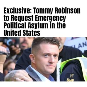 Tommy Robinson is set to ask President Donald Trump to give him emergency politi…