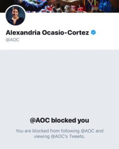 """@ocasio2018 can't handle the heat! All that was said was, """"Stop. You voted NO on…"""