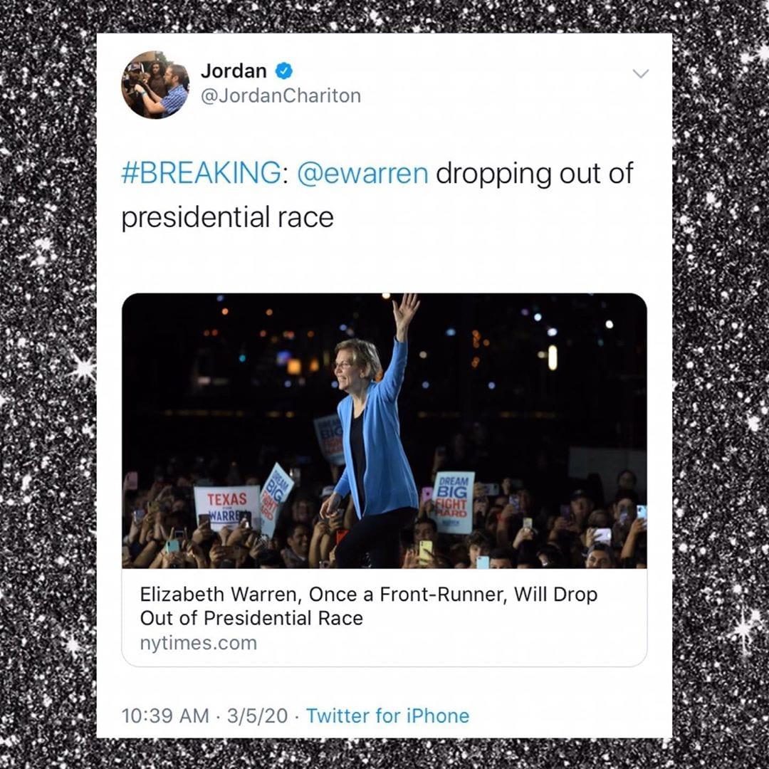 Elizabeth Warren Drops Out Of POTUS Race