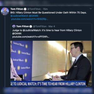 BIG: Hillary Clinton Must Be Questioned Under Oath Within 75 Days