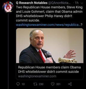 Republican House Members Steve King And Louie Gohmert Claim Obama Admin DHS Whistleblower Phillip Haney Didn't Commit Suicide