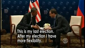 Read more about the article A few years back, Barack Obama was caught on microphone telling Dmitry Medvedev …