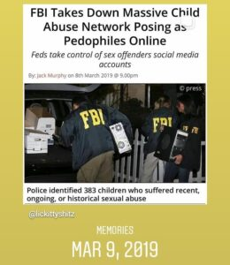 Read more about the article FBI Takes Down Massive Child Abuse Network Posing As Pedophiles Online