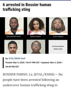 6 arrested in Bossier human trafficking sting