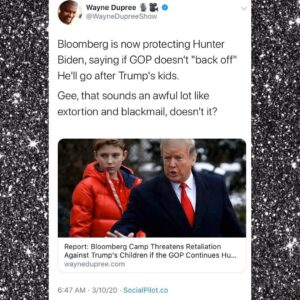 """Bloomberg Now Protecting Hunter Biden Telling GOP Investigators To """"back off"""" Or He'll Go After Trump's Kids"""