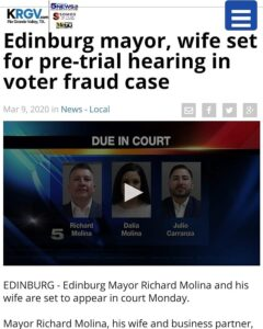 Edinburg mayor, wife set for pre-trial hearing in voter fraud case