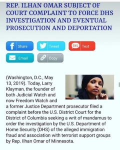"Klayman, who founded Judicial Watch and now runs FreedomWatch, said Omar's ""repe…"