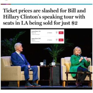 Hahaha, you couldn't pay me to go to see Hillary Clinton. She's an eyesore. Ever…