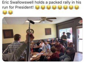 @ericswalwell laughing stock of America  what a joke…