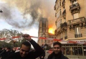 """Read more about the article @pamelageller """"Muslims laugh as blaze destroys Notre Dame cathedral during Holy …"""