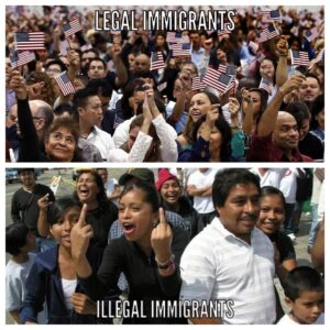 Entering our country illegally is a criminal act and a slap in the face to Ameri…