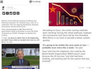 "DNI ""optimistic"" that the ongoing bottlenecks delaying coronavirus testing will be fixed"