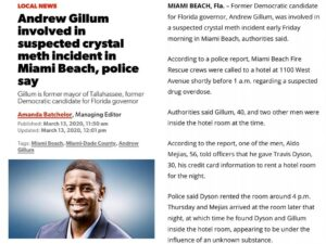 Andrew Gillum involved in suspected crystal meth incident in Miami Beach, police say