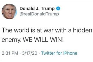 """Trump: """"The World Is At War With A Hidden Enemy. WE WILL WIN!"""""""