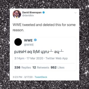 """WWE Tweeted And Deleted This For Some Reason: """"_he _ruth Will Be Heard"""""""