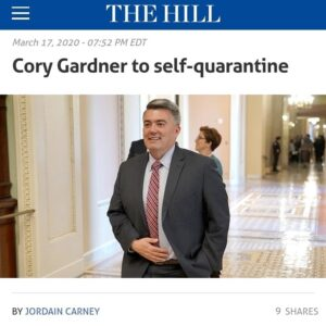 Read more about the article Cory Gardner To Self Quarantine