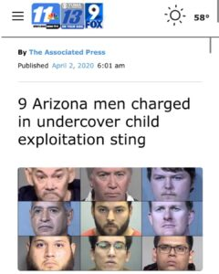 9 Arizona men charged in undercover child exploitation sting