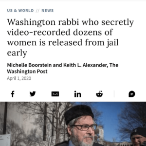 Washington rabbi who secretly video-recorded dozens of women is released from jail early