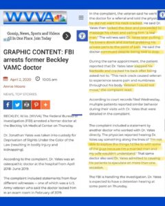 Read more about the article GRAPHIC CONTENT: FBI arrests former Beckley VAMC doctor