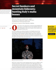 Secret bunkers and mountain hideouts: hunting Italy's mafia bosses