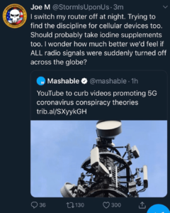 Is 5G Testing Causing Coronavirus? – I wonder how much better weld feel if ALL radio signals were suddenly turned off across the globe?